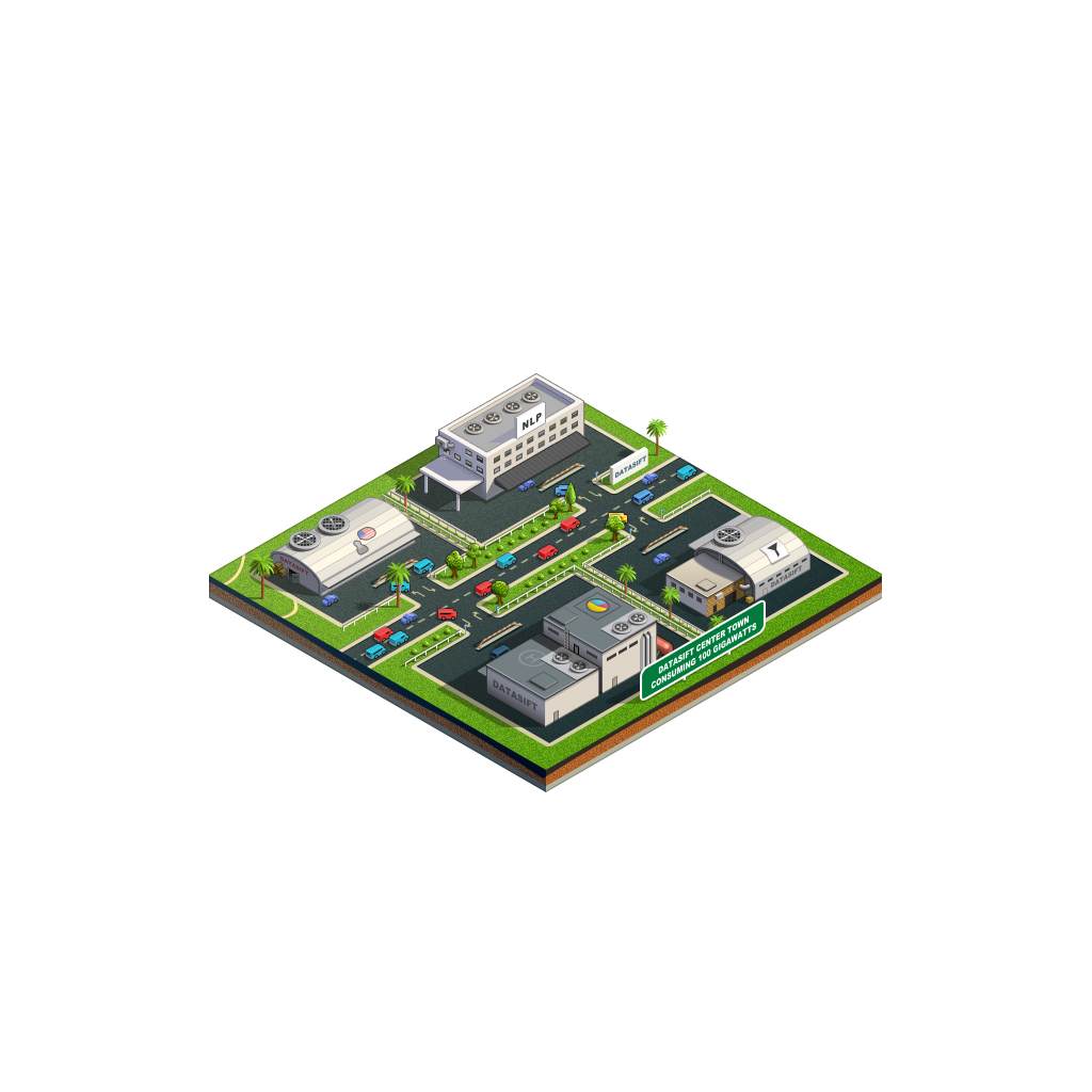 3d city icons