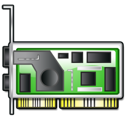 3d graphics accelerator card icon