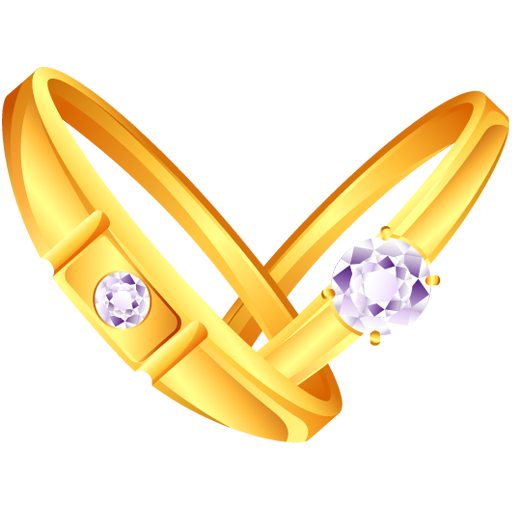 a pair of diamond gold ring icon