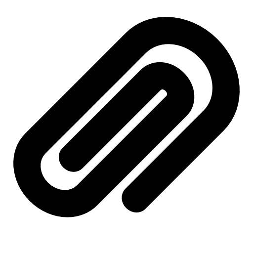a paper clip icon