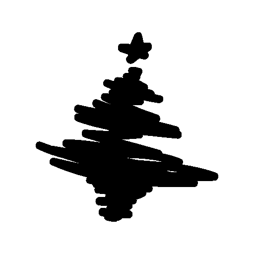abstract christmas tree icon