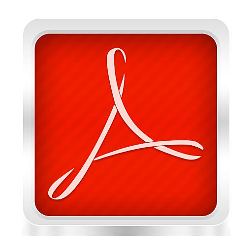 adobe reader logo icon