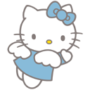 angel style hello kitty cat icon