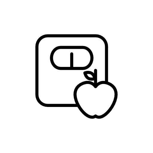 apple and scale icon