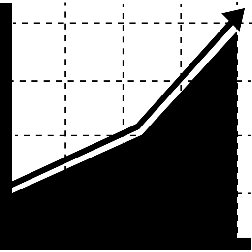 area trend icon