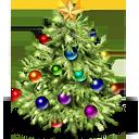 beautiful christmas tree icon
