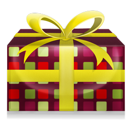 beautiful gift box icon