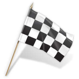 black and white checkered flag icon