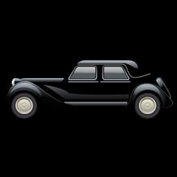 black classic car icon