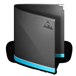 black folder icons 4