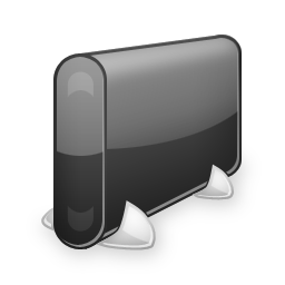 black hard drive icon