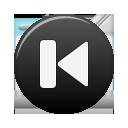 black previous button icon