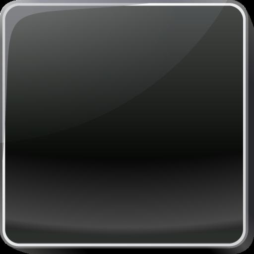 black square button icon