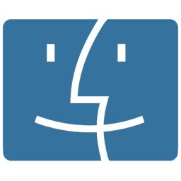 blue finder logo icon