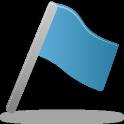 blue flag icons