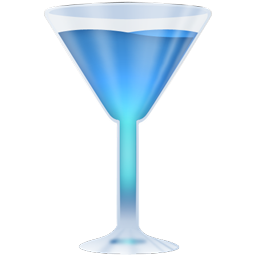 blue glass icons