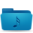 blue music folder icon