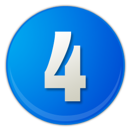 blue number 4 icon
