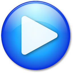blue play button play icon