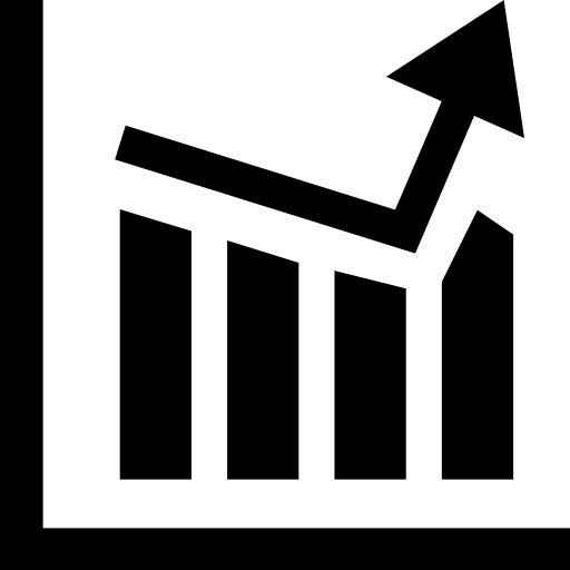 business statistics chart icon