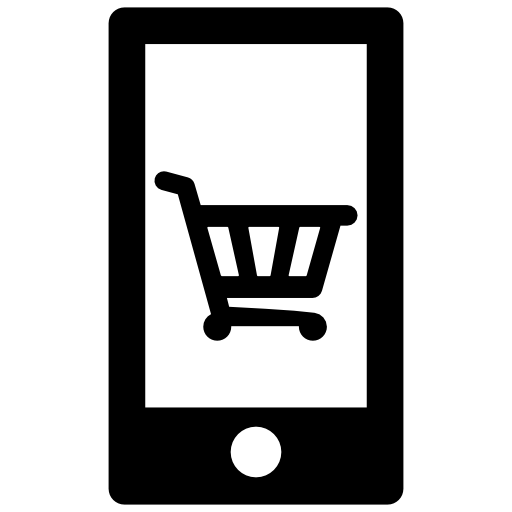 cell phone shopping cart icon