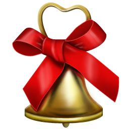christmas holiday bell icon