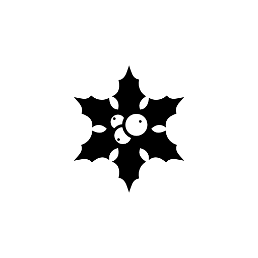 christmas holly leaf icon
