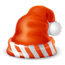 christmas red hat icon