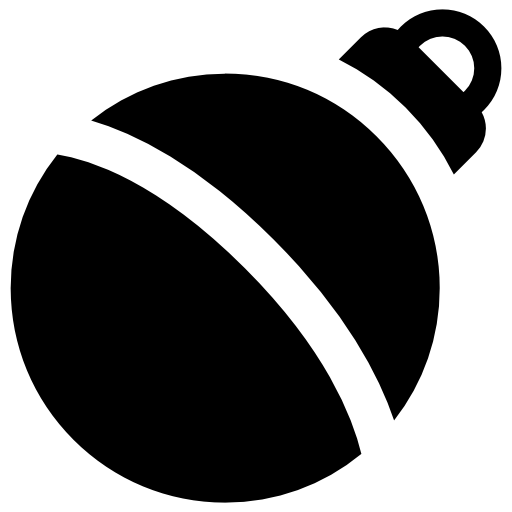 christmas tree decoration ball icon