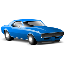 classic blue car icon
