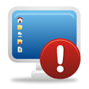 computer warning icon