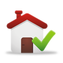 confirm home icon