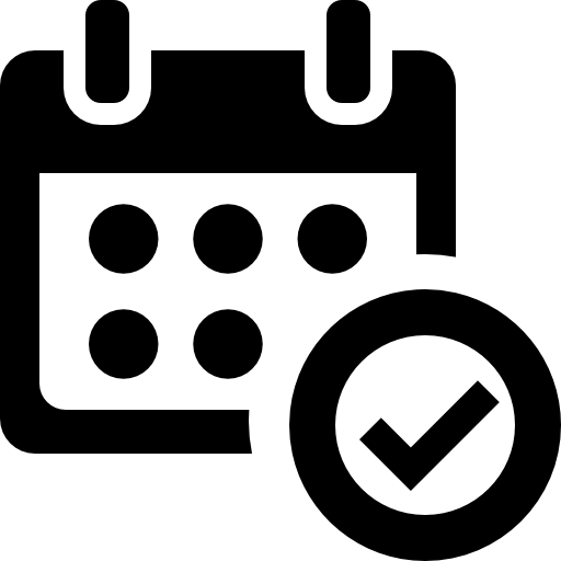 confirm schedule icon