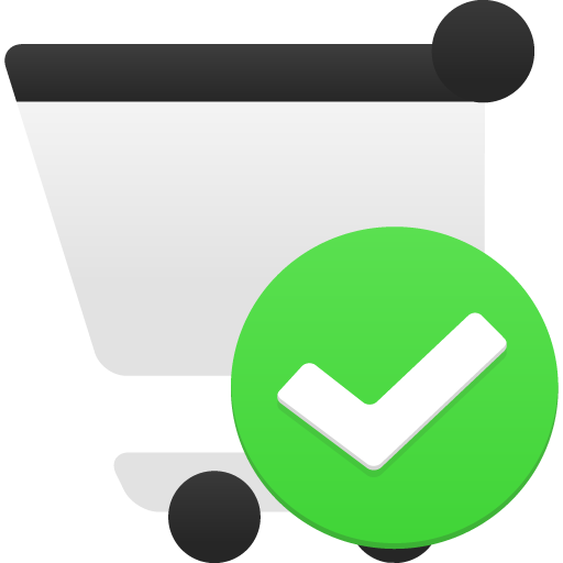 confirm shopping cart icon
