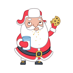 cookie santa claus icons
