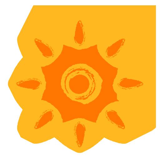 crayon style sun icon