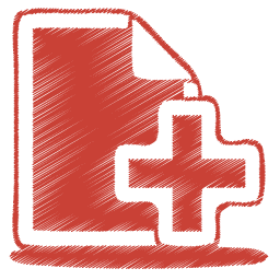 create a documents icon red