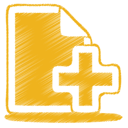 create a documents icon yellow