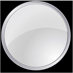 crystal icon style circular button