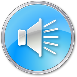 crystal style speaker button icon