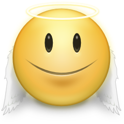 cute angel smiley face icon