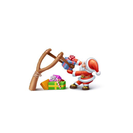cute santa claus gift icon