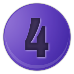 dark blue number 4 icon