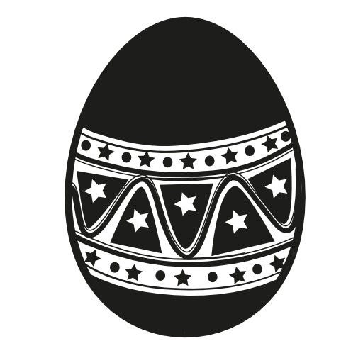 decorative design easter egg icon