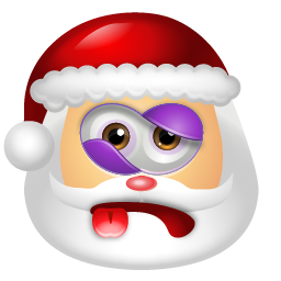 defeated santa claus emoticon