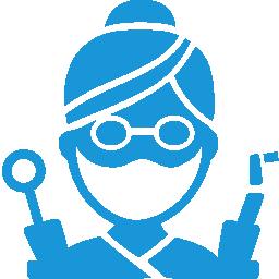 dentist blue icon