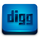 digg button icons blue