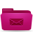 e mail folder pink icon
