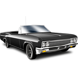 exquisite black car icon