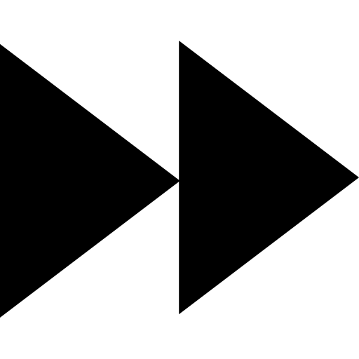 fast forward symbol shape icon